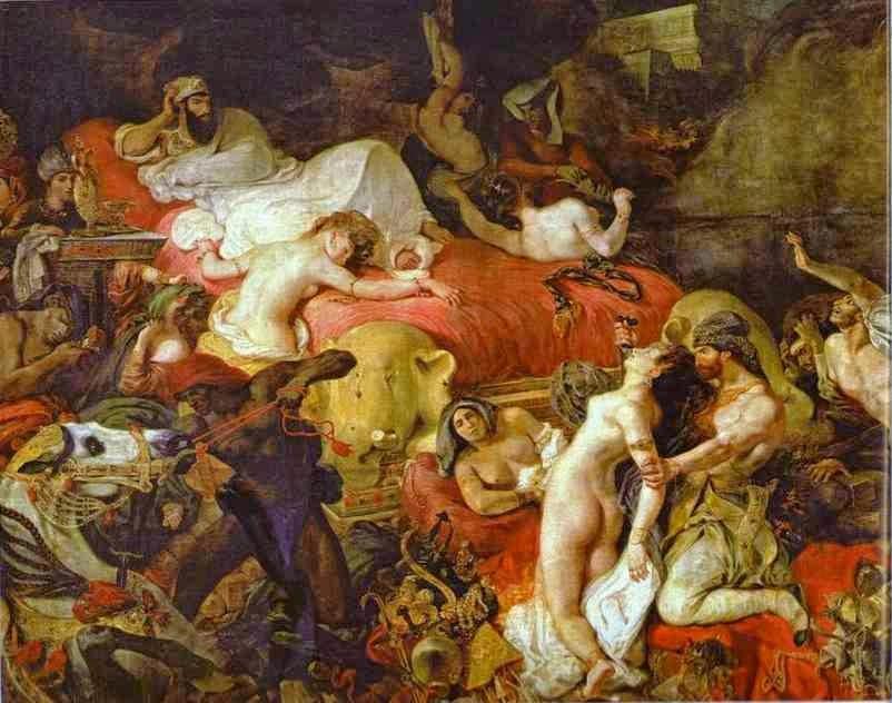 Morte de Sardanapalo - Delacroix, Eugène e suas principais pinturas ~ Romantismo francês