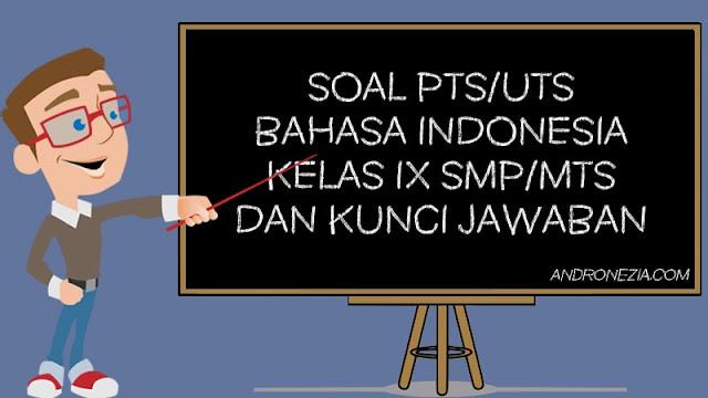 Soal PTS/UTS Bahasa Indonesia Kelas 9 Semester 1