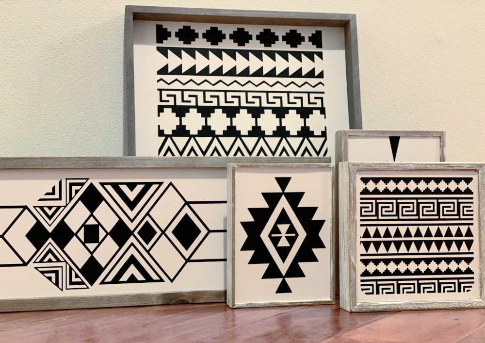boho art frames
