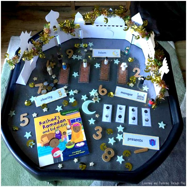 Ramadan Tuff Tray - Ramadan Activities for Kids
