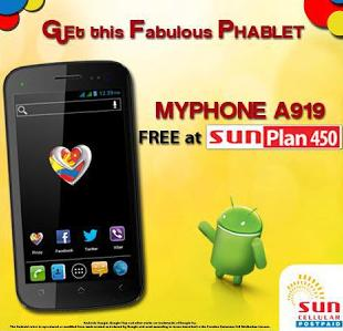 Sun Cellular offers Free MyPhone A919
