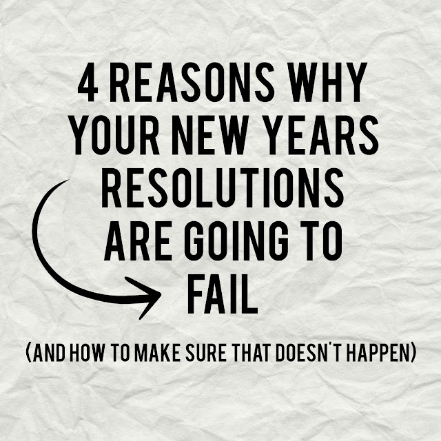 4 Reasons Why Your New Years Resolutions Are Going to Fail (and how to make sure that doens't happen)