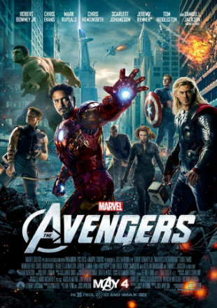 Poster of The Avengers (2012) BRRip 720p Dual Audio In Hindi English