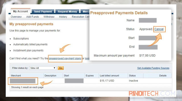 Cara Cancel Automatic Payment di Paypal