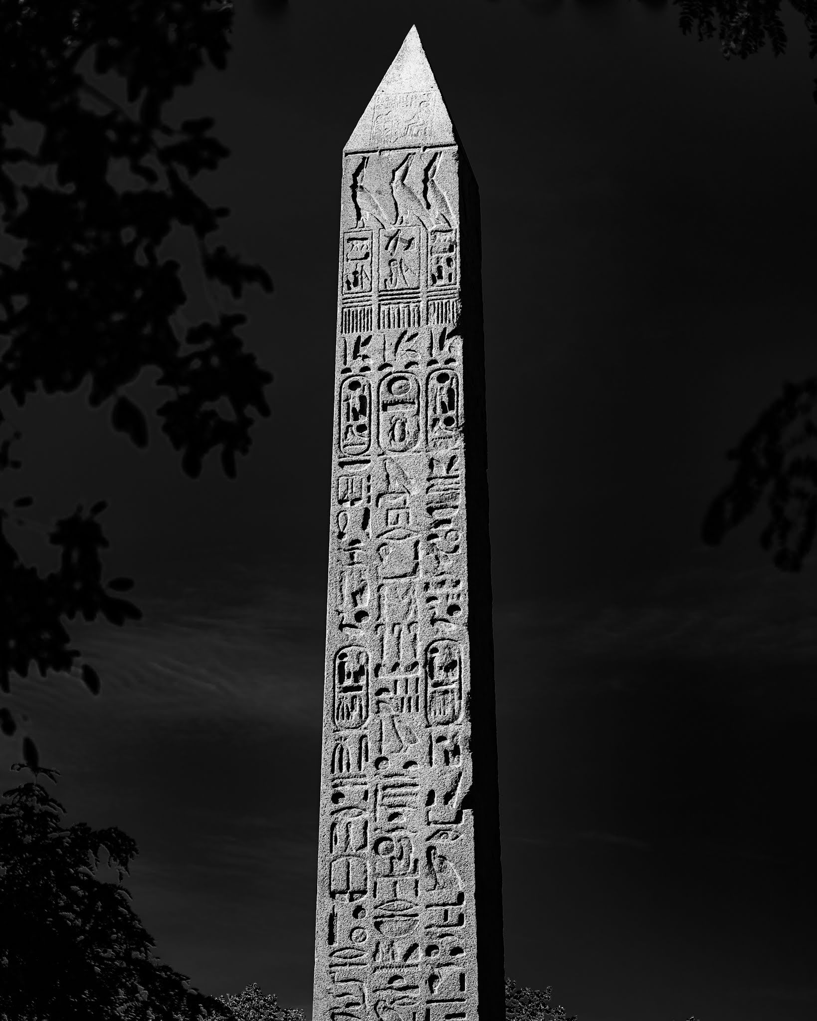 a photo of an egyptian obelisk in central park new york
