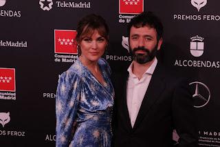 Marta Nieto y Rodrigo Sorogoyen en los Premios Feroz 2020