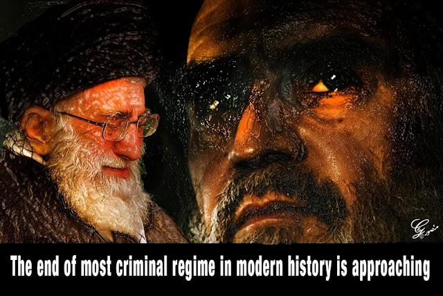 روز پایان رژیم جنایتکار نزدیک است اثرهنرمندفقیدمقاومت منصور قدر خواه
