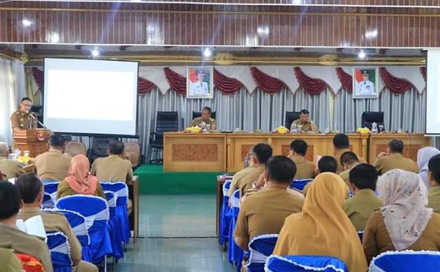 Pemkab Lambar Melaksanakan Rapat Koordinasi Pengendalian Operasional Kegiatan Pembangunan (Rakor Pop) Triwulan IV