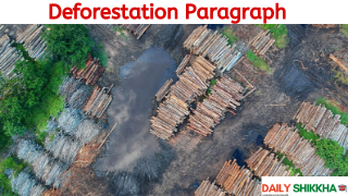 Paragraph on Deforestation
