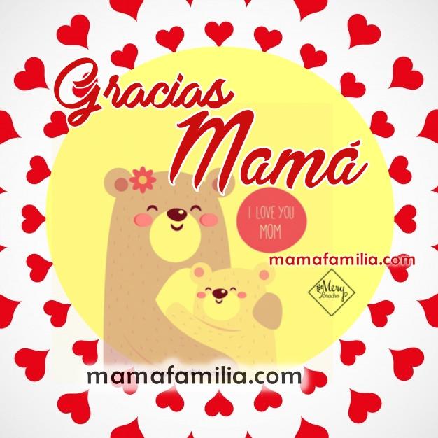 Imagen de gracias a Mamá, agradecimiento a mi madre por todo. Frases de gratitud para mi madre por Mery Bracho.