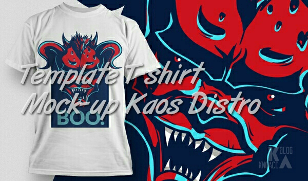 template kaos distribution mock-up