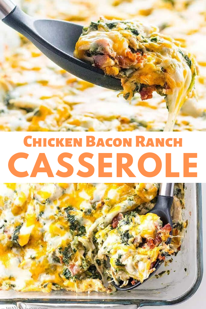 Low Carb Chicken Bacon Ranch Casserole