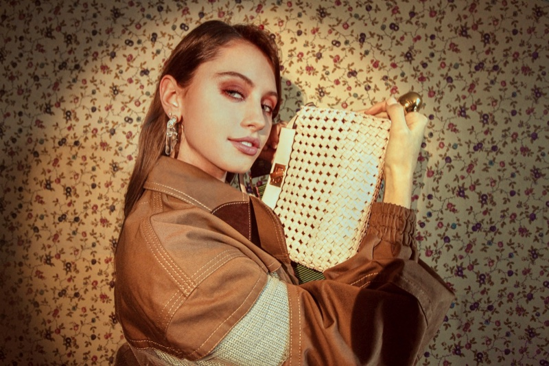 Iris Law Poses With Fendi Peekaboo Bag