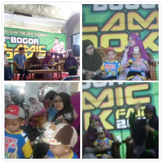 Satu panggung bersama bunda Pipiet Senja di IBF Bogor dan sensasi bawa dua balita aktif