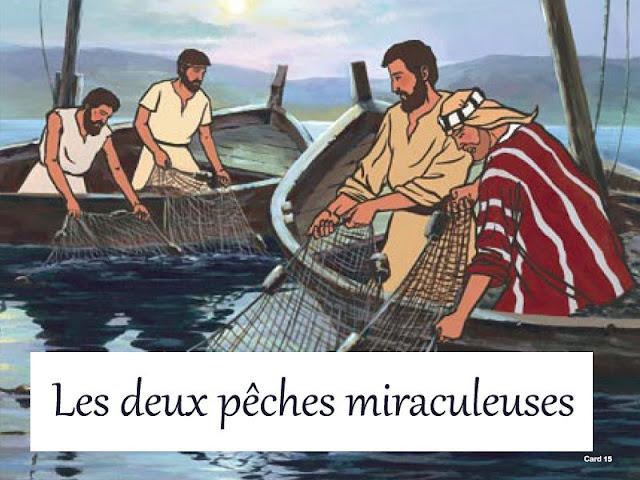 les deux récits de la pêche miraculeuse dans la Bible