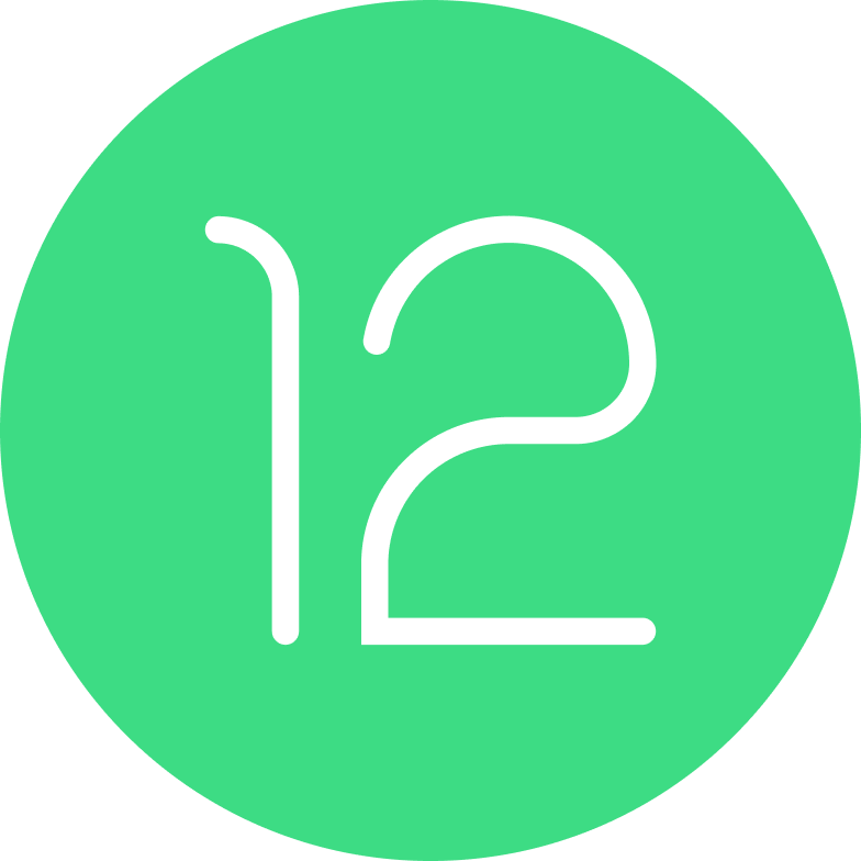 Logotipo do Android 12