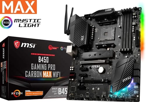Review MSI B450 GAMING PRO CARBON MAX WIFI Motherboard