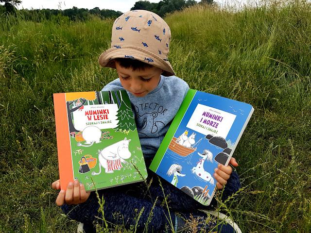 Szukaj znajdź Muminki i morze Muminki w lesie - Mapy i labirynty. Disney Pixar - Moje bajeczki o wyścigach - Moje bajeczki z Pliszkowego Lasu - Egmont - Harper Collins - ksiażki na lato - książki dla dzieci