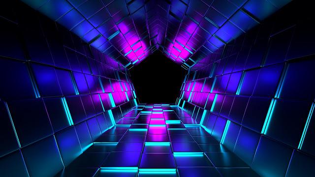 3D Wallpaper HD 1600x900 tunnel