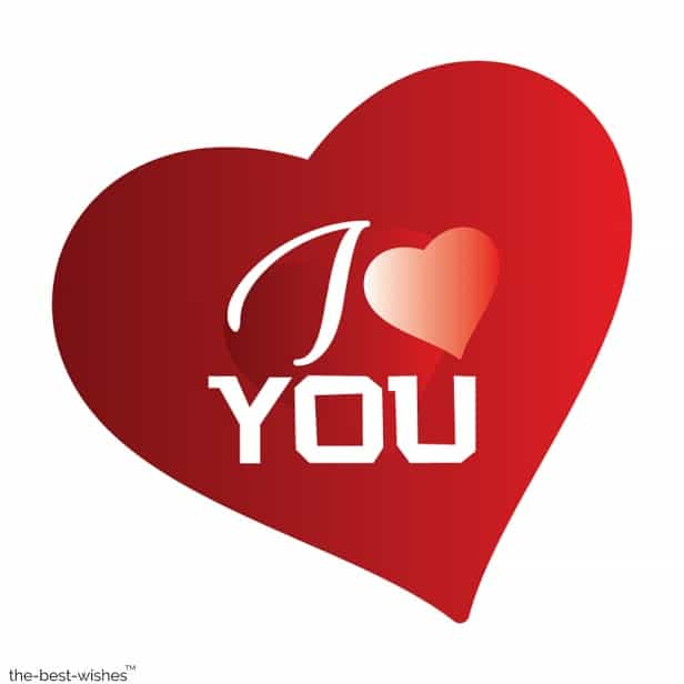 i love you heart for love