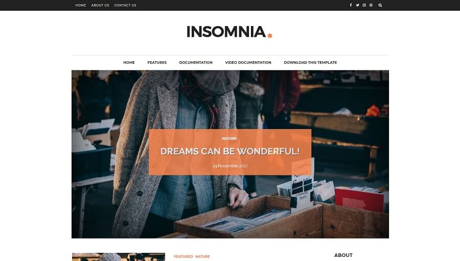 Insomnia - Personal Responsive Blogger Template
