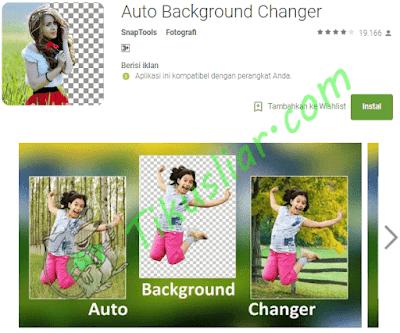 Aplikasi untuk mengubah latar belakang apk foto android gratis