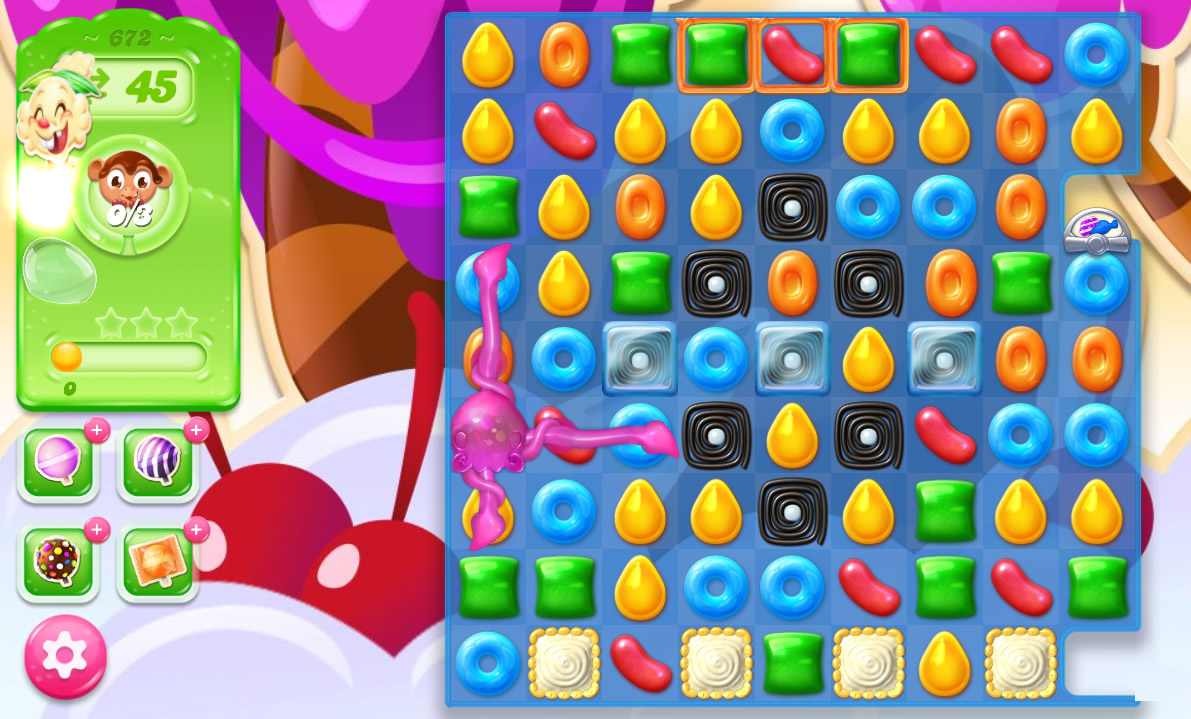 Candy Crush Jelly Saga level 672