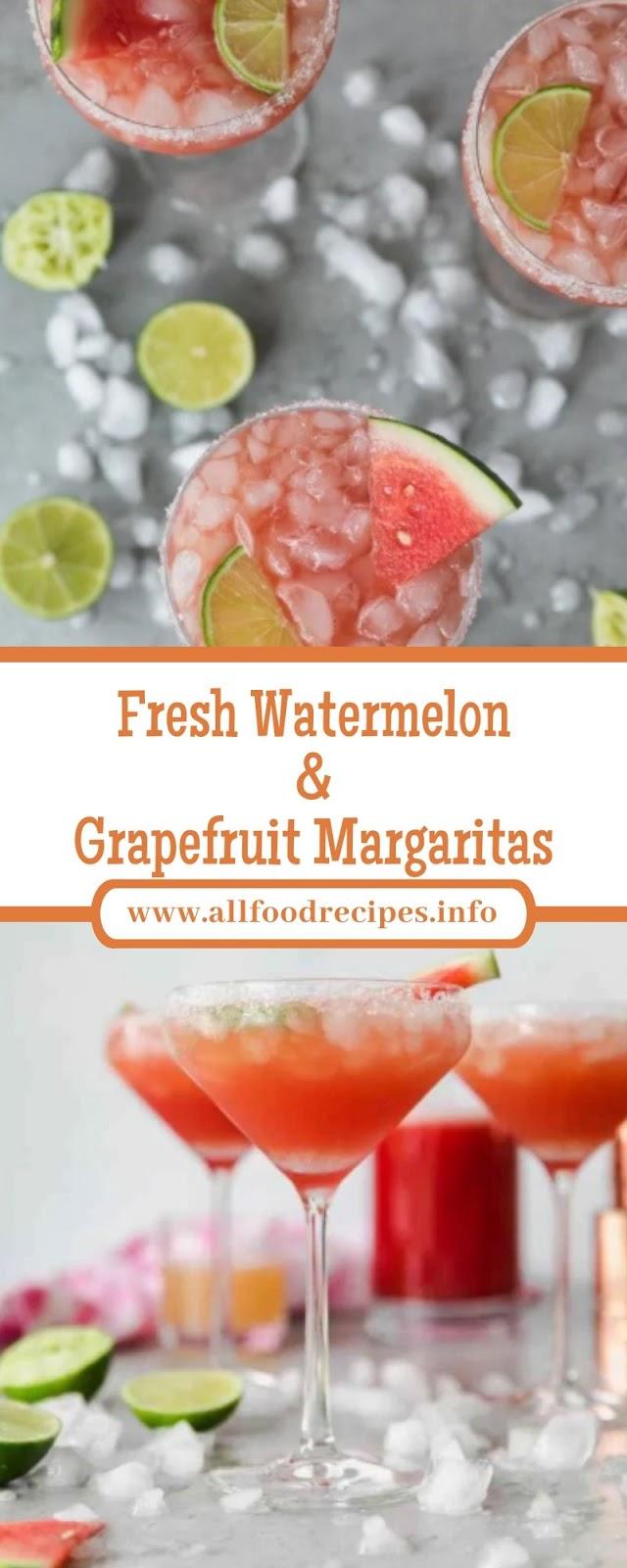 Fresh Watermelon & Grapefruit Margaritas