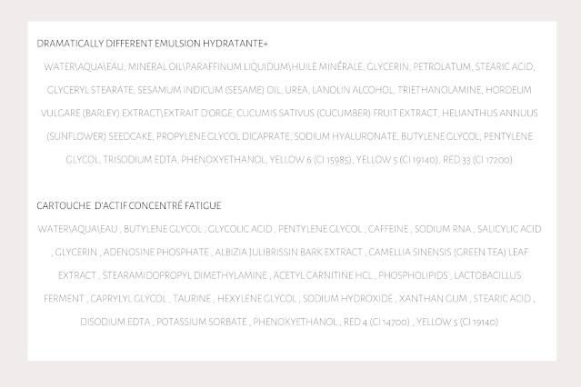 composition clinique dramatically different moisturizing lotion, clinique emulsion hydratante tellement différente composition, basic 3  temps peau mixte revue blog