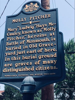 Molly Pitcher Historical Marker in Cumberland County, Pennsylvania