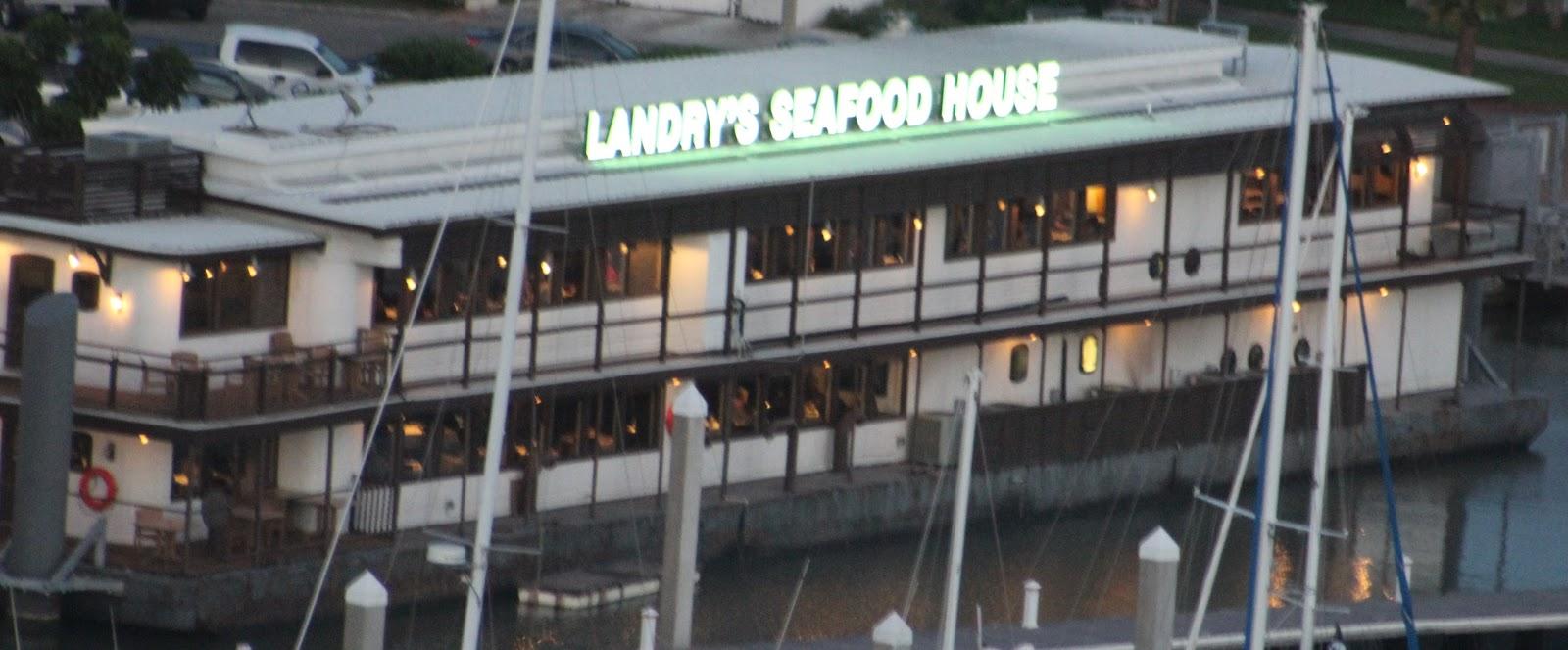 Below Landry S Seafood House Floating Barge Restaurant Corpus Christi Texas 20 June 2016