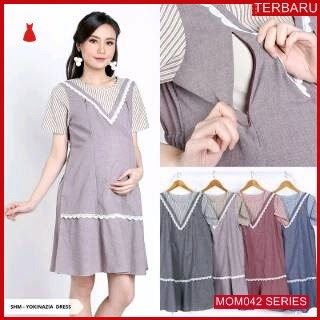MOM042D17 Dress Hamil Menyusui Modis Veliska Dresshamil Ibu Hamil