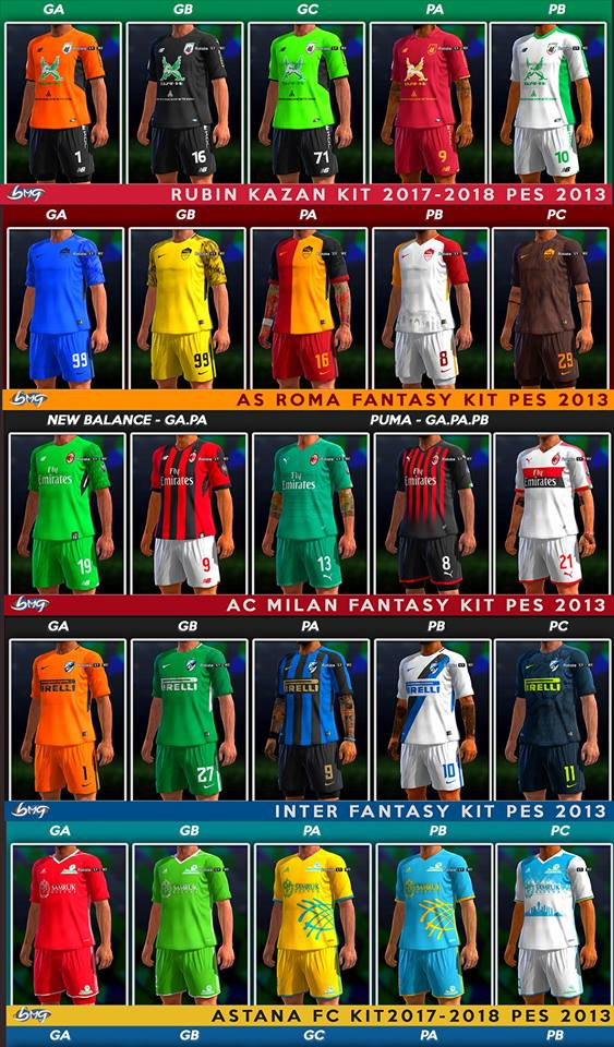 Kit PES 2013 Update 22.10.17 by BMG Kitmaker