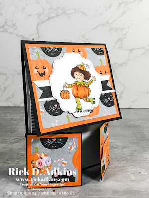 You will have a smile on your face with this cute little Halloween Fun Fold Card using the Seasons of Fun Host/Hostess Stamp Set Learn more here