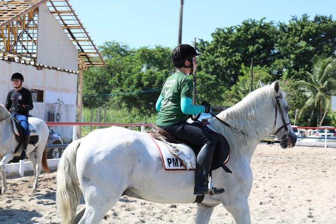 Terapia com Cavalos da Polícia Militar beneficia mais de 40 crianças com deficiência em Manaus