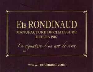 La marque de charentaise Rondinaud