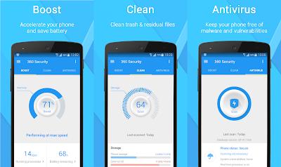 Antivirus untuk android 360 Security