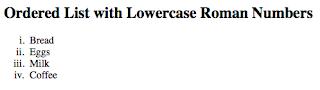 ordered list roman number lowercase pada laman html