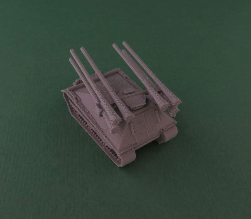 10mm Wargaming: 12mm M50 Ontos From Butlers Printed Models