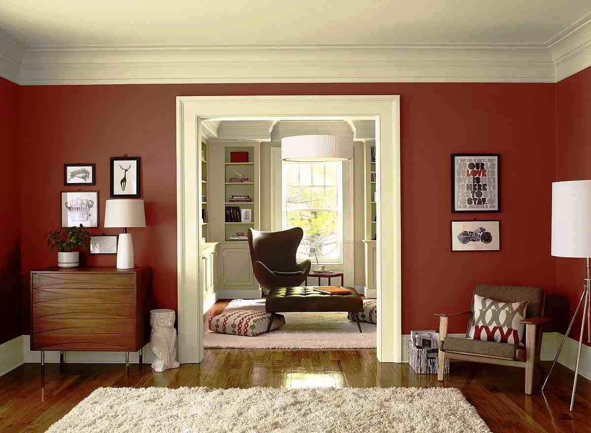55 kombinasi warna cat dinding ruang tamu minimalis elegan