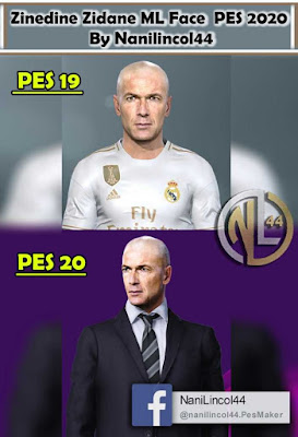 PES 2020 Faces Zinedine Zidane by Nanilincol44