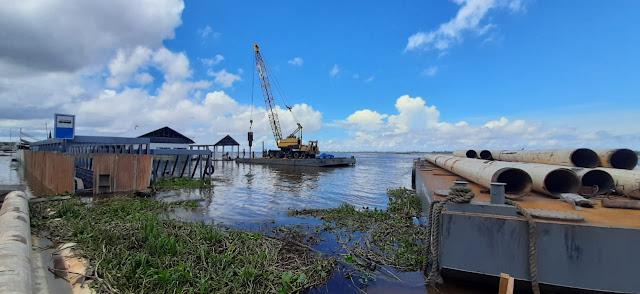 Obra do terminal hidroviário de Óbidos   entra na fase final