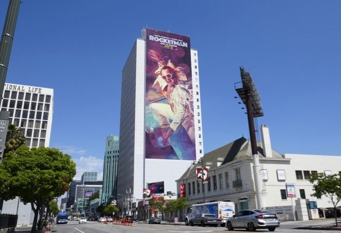 Giant Rocketman movie billboard