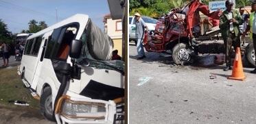 ACCIDENTE EN SAMANA DEJA VARIOS HERIDOS