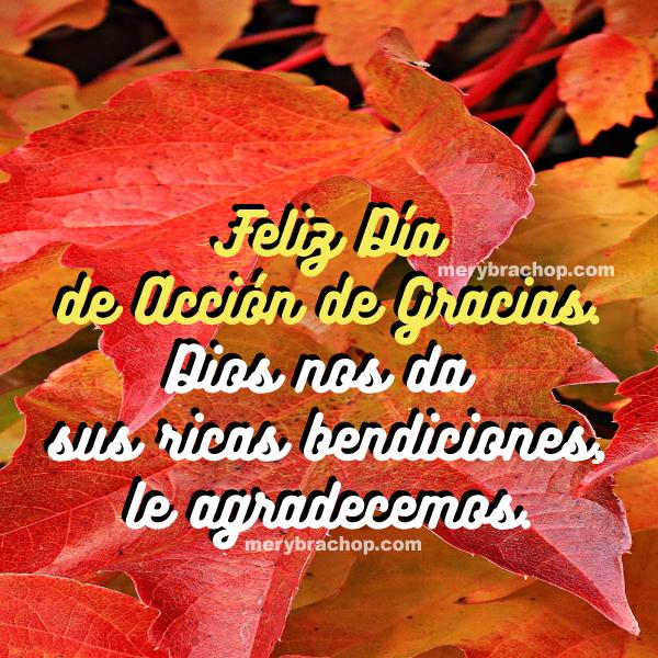 frases mensajes de accion de gracias, imagen bonita con frases cristianas de bendiciones y agradecimiento a Dios