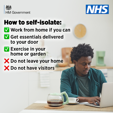 How to self-isolate UK Government Coronavirus advice