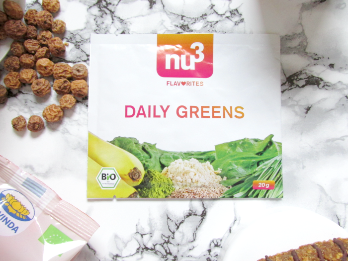 nu3 Insider Box März Happy & Healthy : nu3 Flavorites - Daily Greens Bio-Smoothie Pulver - 3er Pack - 6.99 Euro