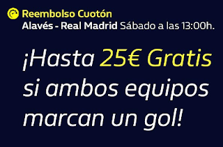 william hill Reembolso Alavés vs Real Madrid 30 noviembre 2019