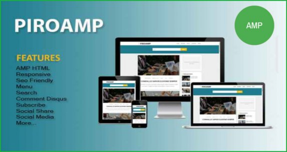 Piro-Amp-blogger-template