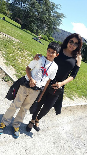 Ramya Krishnan with son  Ritwik